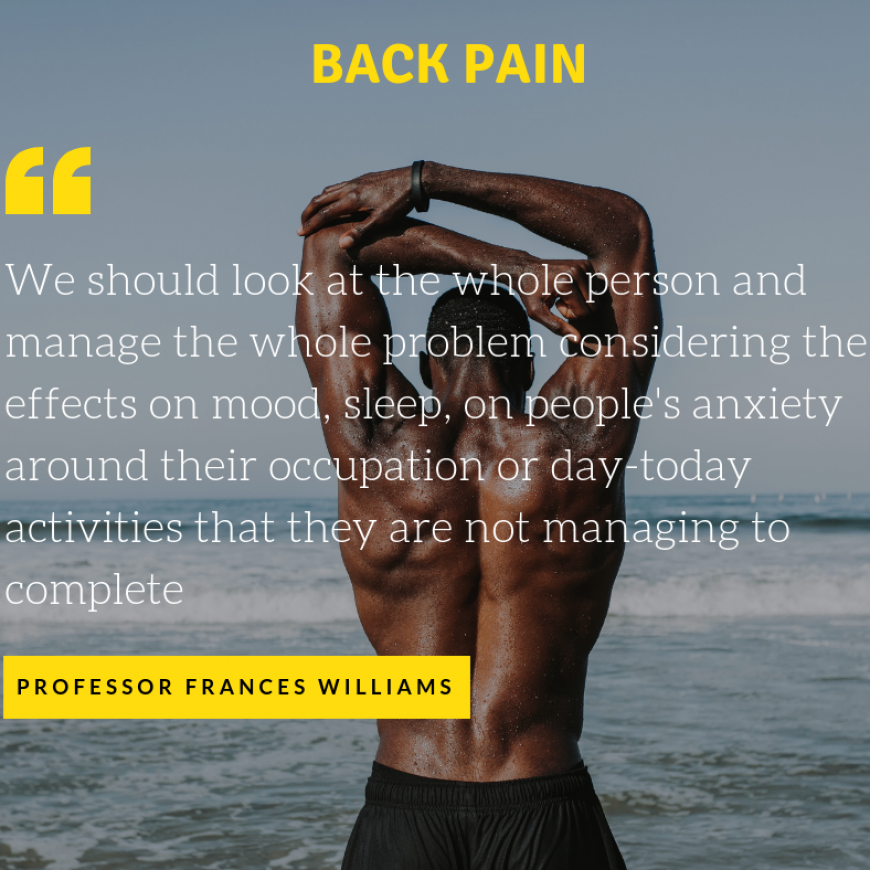 Genetics point towards a holistic approach to back pain