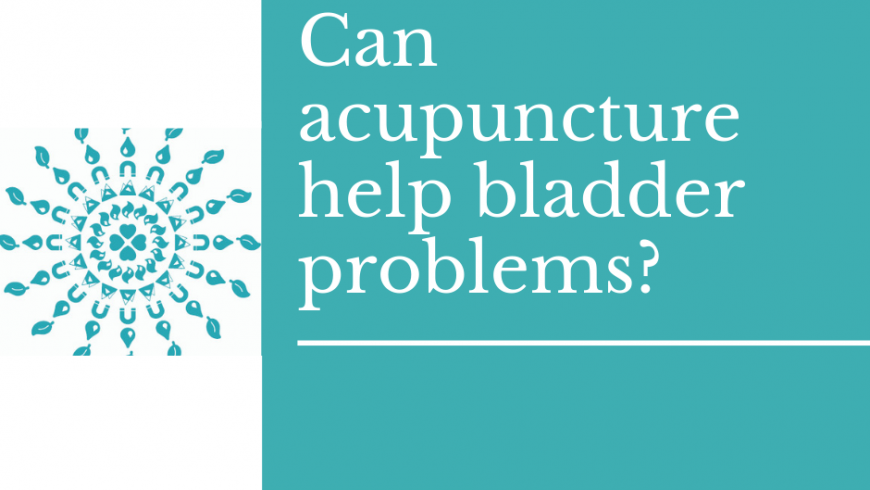 Can acupuncture help bladder problems?